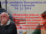 Zasedání zastupitelstva 10. 12. 2014 (Mimořádné události)